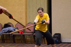 Quarterstaff Class at the Advanced Combat Intensive. Credit: FightGuy Photography