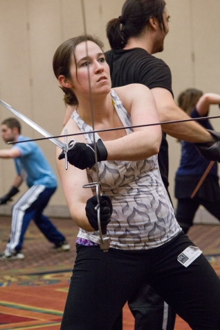 Rapier/Dagger class at the Advanced Combat Intensive. Credit: FightGuy Photography